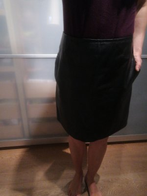 Strenesse Leather Skirt black