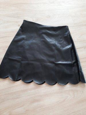 SheIn Falda de cuero negro