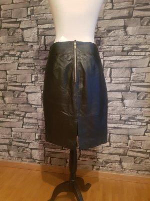 H&M Leather Skirt black