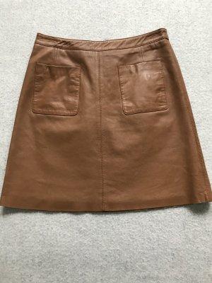 Esprit Jupe en cuir brun cuir