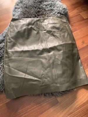 Comma Falda de cuero multicolor