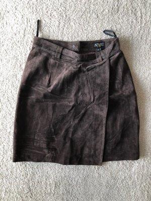 Apart Leather Skirt brown