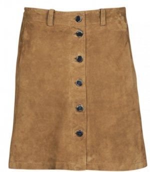 Oakwood Leather Skirt cognac-coloured leather