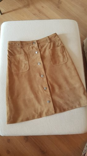 Twin set Leren rok camel