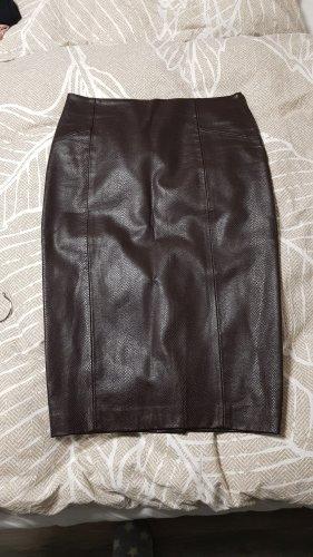 Zara Basic Spódnica midi ciemnobrązowy