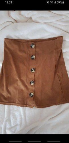 Tally Weijl Skórzana spódnica brązowy-cognac