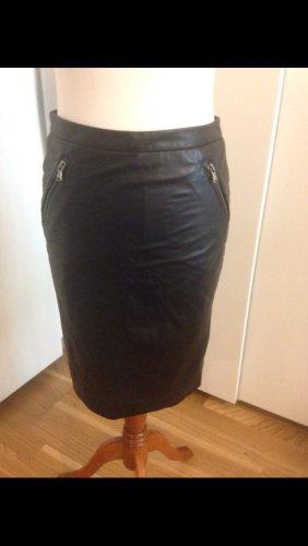 Set Falda de cuero negro