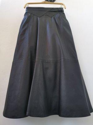 Jupe en cuir noir cuir