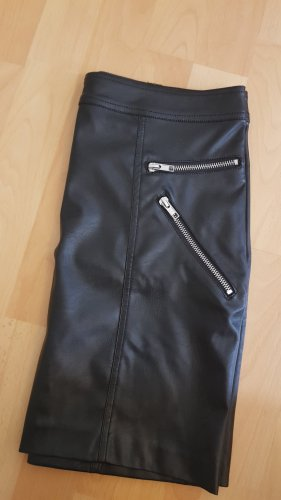 Sparkz Leather Skirt black
