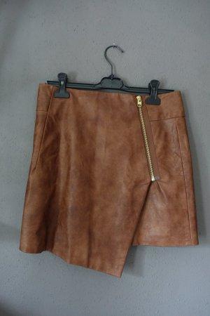 H&M Faux Leather Skirt multicolored mixture fibre