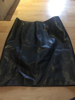 Cinque Falda de cuero negro