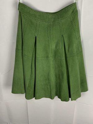 Falda de cuero verde bosque-verde