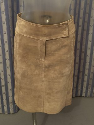 Hallhuber Leather Skirt beige