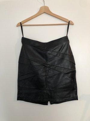 Marks & Spencer Jupe en cuir noir