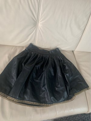 Leather Skirt black-gold-colored