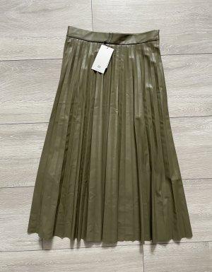 C&A Spódnica z imitacji skóry khaki
