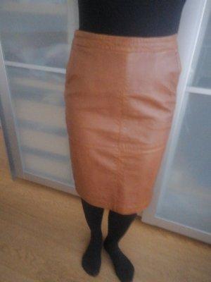 Esprit Leather Skirt cognac-coloured