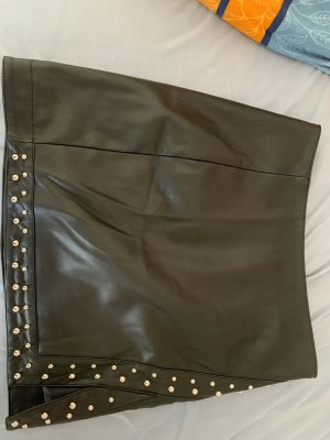 Gina Tricot Leather Skirt black