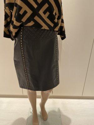 Malvin Leren rok zwart-goud