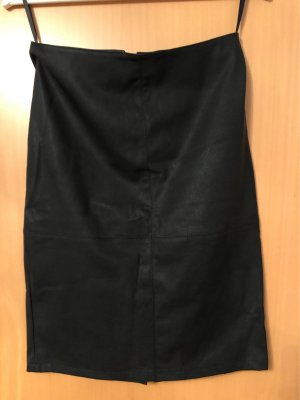 Only Leather Skirt black