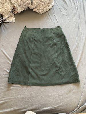 Hallhuber Leather Skirt multicolored