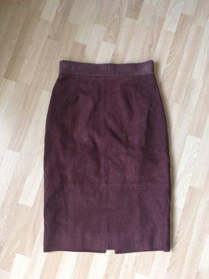 H&M Jupe taille haute multicolore cuir