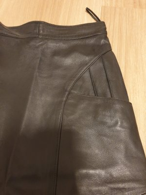 Skórzana spódnica czarny