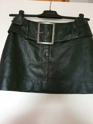 Amisu Falda de cuero negro