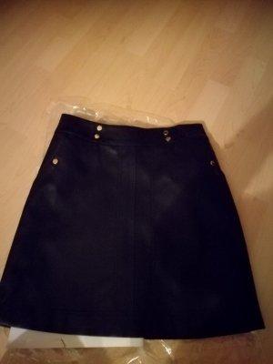 Lederrock in schwarz von Orsay Größe 34