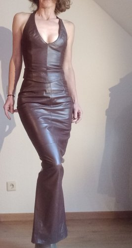Crazy Outfits Leather Skirt brown