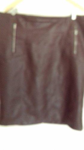 Bodyflirt Falda de cuero rojo amarronado Viscosa