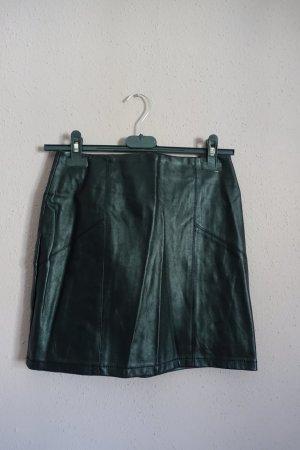 Asos Faux Leather Skirt black polyurethane