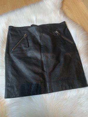 Black Lily Falda de cuero negro