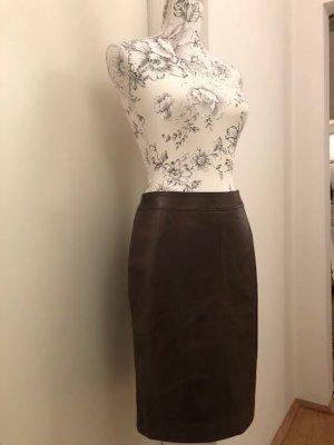 Oakwood Leather Skirt cognac-coloured leather