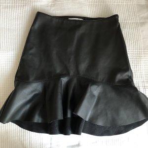 Gina Tricot Falda de cuero negro