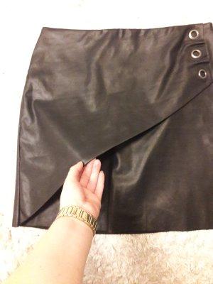 Laura Scott Faux Leather Skirt black polyurethane