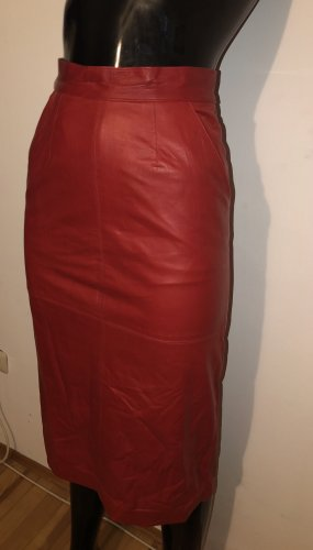 Leather Skirt brick red