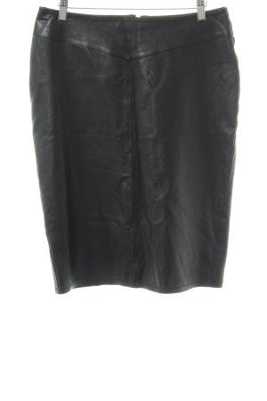 "Leather Skirt ""Sally Blue"" black"