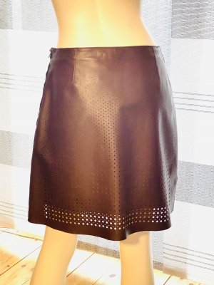 Schumacher Leather Skirt brown leather