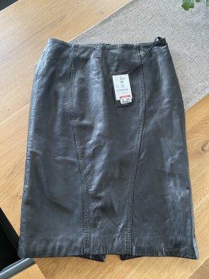 Cinque Skórzana spódnica czarny