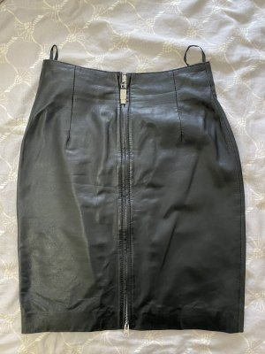trendzone Leather Skirt black leather