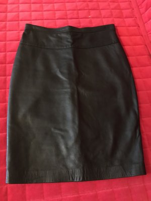 Lederrock, schwarz, Größe M