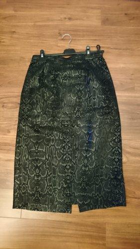 Lederrock Schwarz Leo - Größe 40