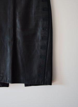 Lederrock schwarzbraun - Gianni Versace