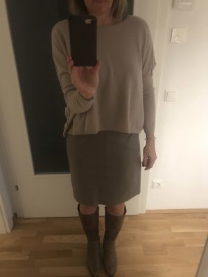 (The Mercer) NY Jupe en cuir taupe-gris brun