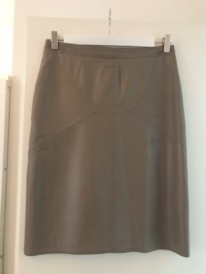 (The Mercer) NY Leather Skirt taupe-grey brown