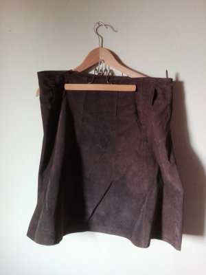 Himmelblau by Lola Paltinger Leather Skirt dark brown leather