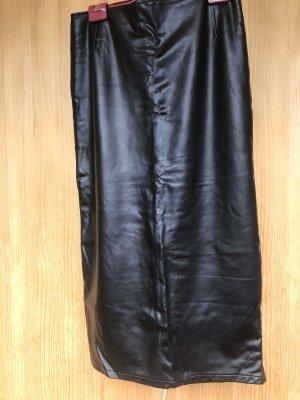 Kathleen Madden Faux Leather Skirt black