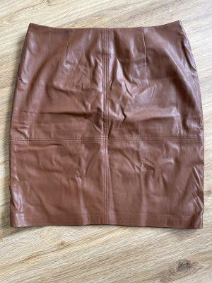 Comma Jupe en cuir synthétique brun-cognac