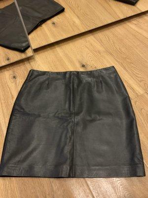 Gestuz Leather Skirt black